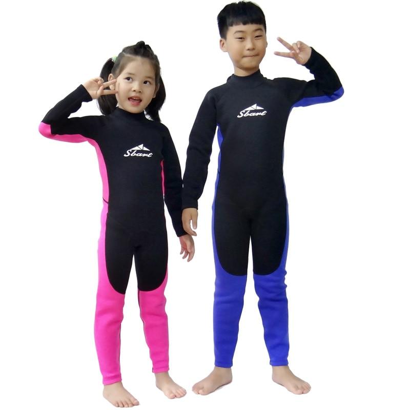 2mm enfants combinaison de plongée en néoprène combinaison de plongée surf vêtements d'hiver maillot de bain et hiver maillot de bain enfant pakaian basah