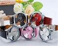 2016 Mickey de La Manera de Las Mujeres Relojes de cuarzo ocasional transparente hollow dial cuero relojes mujeres vestido reloj relogio feminino