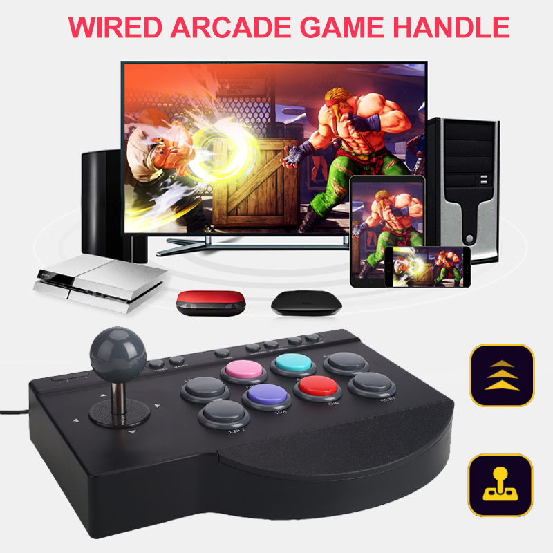 PXN - 0082 Wired Arcade Joystick Gamepads Game Controller For PS3 PS4 PC For XBox-ONE