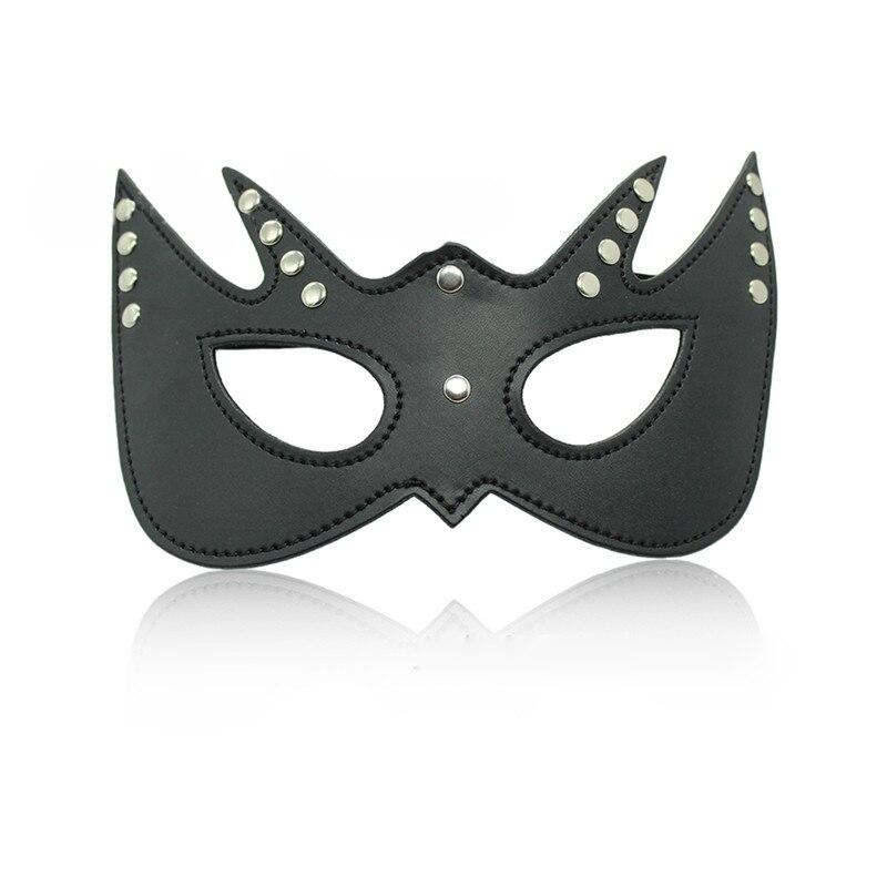PU Leather Blindfold Mask Eye Patch SM Bondage Slave Erotic Eyemask Night Fun