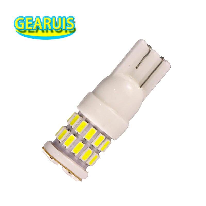100pcs 360 angle lighting Ceramic T10 W5W LED 30 smd 3014 Car LED Lamp 12V Bulb