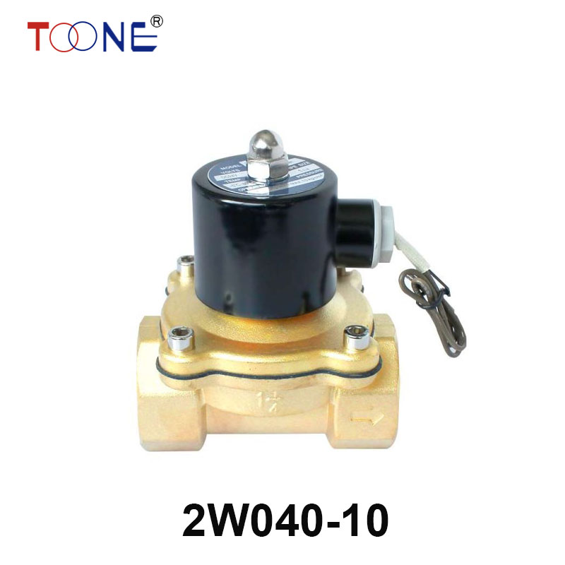 High Quality 220V AC 3/8 Electric Solenoid Valve Water Air N/C All Brass Valve Body On Sales 2W040-10 tf20 s2 c high quality electric shut off valve dc12v 2 wire 3 4 full bore stainless steel 304 electric water valve metal gear