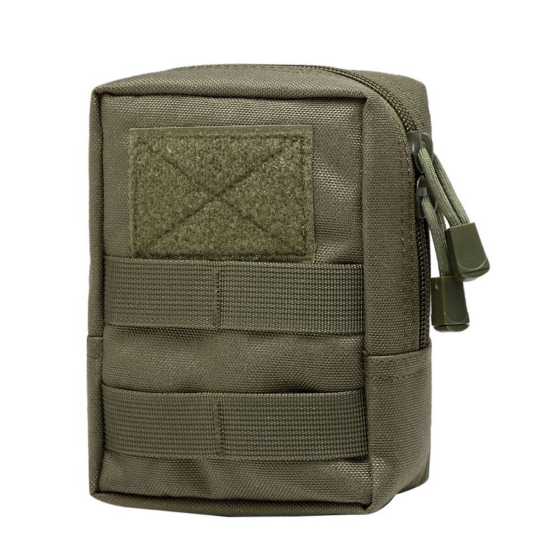 1000D Outdoor Military Tactical Waist Bag Multifunctional EDC Molle Tool Zipper Waist Pack Accessory Durable Belt Pouch airsoftpeak military molle waist bag tactical edc pouches outdoor belt utility pouch tool zipper waist pack hunting bags