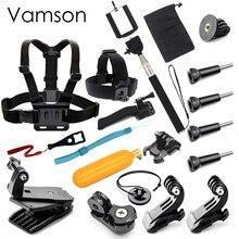 Vamson for Gopro Hero 5 Accessories Set Helmet Chest Belt Head Mount Strap Monopod for Gopro hero 4 3+ 3 for xiaomi for yi VS78