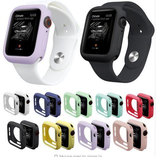 Watch Case for iWatch Series 1 2 3 4 Cover Fall Resistance Soft TPU Silicone Case