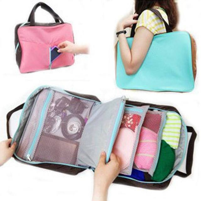 Travel Luggage Bag Multifunctional Storage Handbag Small Articles Clothes Organizer Computer Suitcase Las Pouch
