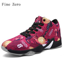 Fine Zero 2017 Men black red yellow  Basketball Shoes Sport Trainer Adult Basket ball Slip Resistant Man's Athletic Sneakers