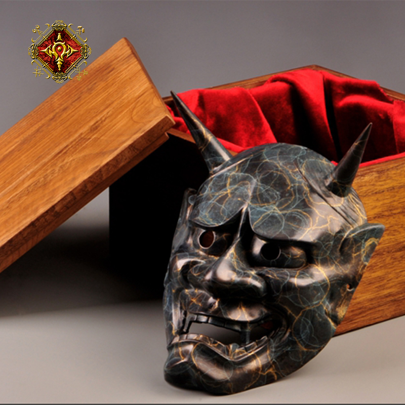 Masque en Bronze OGRM bouddhisme japonais Prajna fantôme traditionnel Hannya Masque de fête halloween Cosplay accessoire accessoires hommes cadeaux