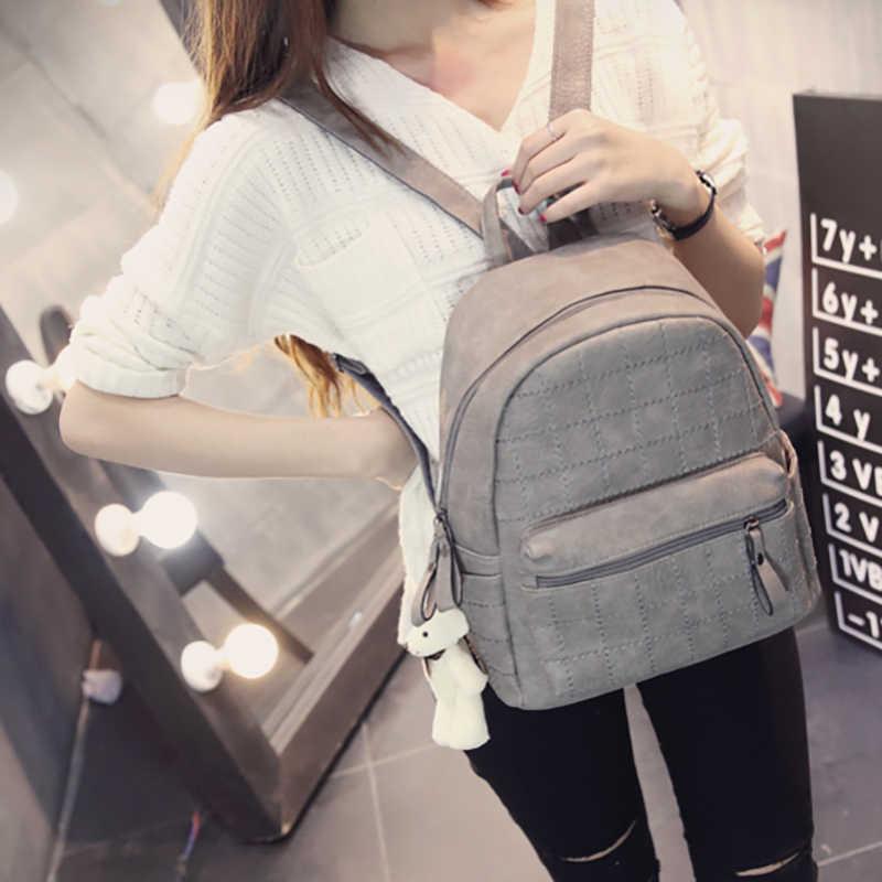 2018 Новый Европейский Элегантный дизайн PU кожаный рюкзак для женщин плед путешествия повседневные Рюкзаки, горячая Распродажа школьная сумка для девочек-подростков WUJ0395