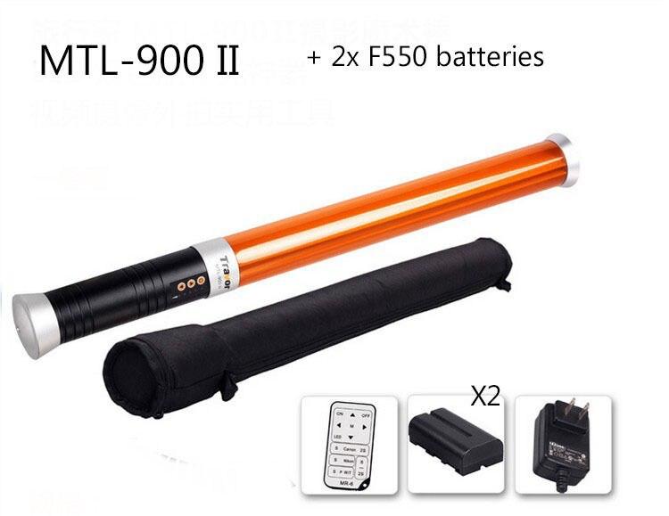 Portatif 298 LED 3200-5600 K Tube Magique Lumière MTL-900 II comme LUMIÈRE DE GLACE (inclure 2 pièces batterie + 1 pièces chargeur de batterie)