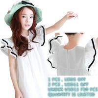 Beach Toddler Summer Dress For Girls A Line Cotton White Big Princess Girl Children Dress Spring