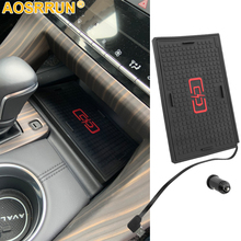 For Toyota Avalon 2018 2019 Car accessories Mobile phone 10W QI wireless charger phone adapter fast charging holder car wireless fast charger console storage panel auto interior door charging panel for mobile phone for toyota for camry 8th 2018
