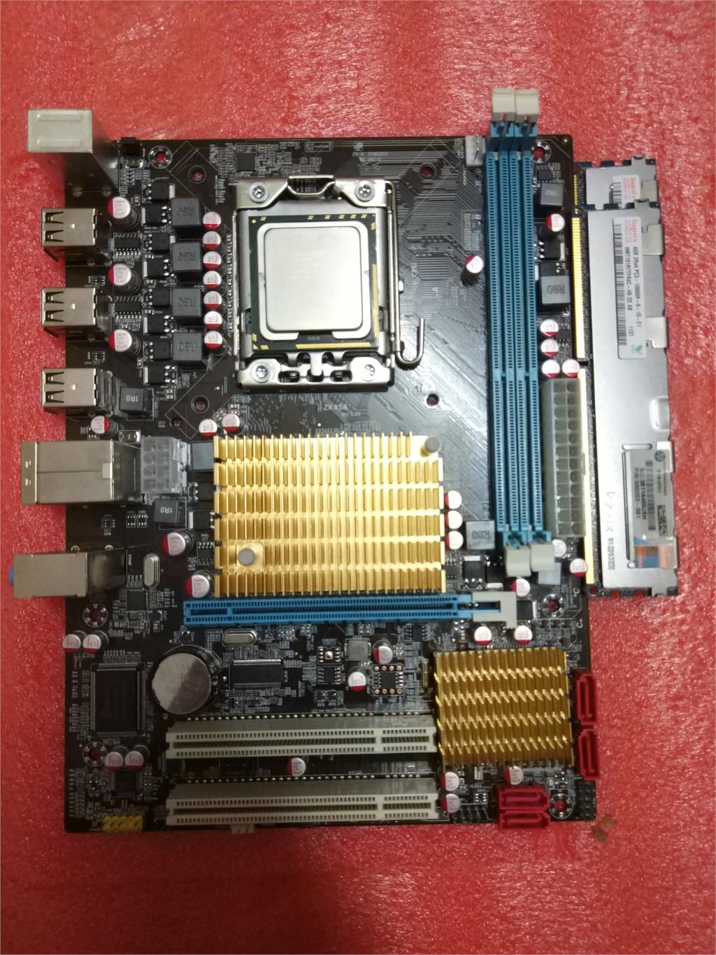 HUANAN X58 motherboard support DDR3 ECC REG Micro-ATX for X5570 X5650 W5590 X5670 L5520,only motherboard new original motherboard x58 extreme boards lga 1366 ddr3 24gb atx mainboard for x5570 x5650 w5590 x5670 l5520 cpu free shipping