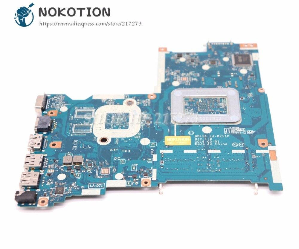 NOKOTION For HP 15-BA Laptop Motherboard 854966-001 854966-601 BDL51  LA-D711P MAIN BOARD A8-7410 CPU DDR3
