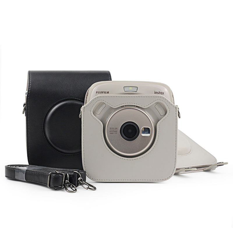 Camera <font><b>Case</b></font> Bag Cover with Shoulder Strap, Suitable for Instant Camera Instax SQUARE SQ20 / instax SQUARE SQ10, PU Leather image