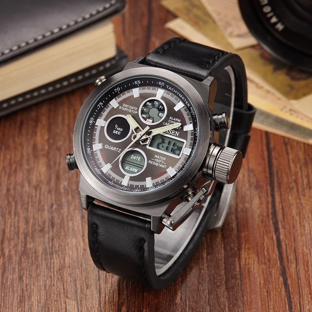 Original OHSEN Digital Analog Watch Dual Time