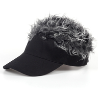 VORON Hot New Fashion Novelty Baseball Cap Fake Flair Hair Sun Visor Hats Men S Women