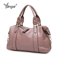 YBYT Brand 2017 New PU Leather Fashion Casual Women Totes Large Capacity Shopping Bag Ladies Travel