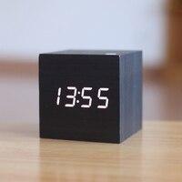 Antique bureau humeur Vintage horloge numérique LED rétro de Table personnalisé brève Art horloge veille silencieuse cadeau petite horloge électronique