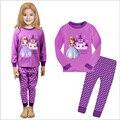 2017 Ano Novo Meninas Do Bebê Olá Kitty Minnie Mickey Pijama Elsa Crianças da Longo-Luva Pijamas Pijama Pijamas de Natal Das Crianças