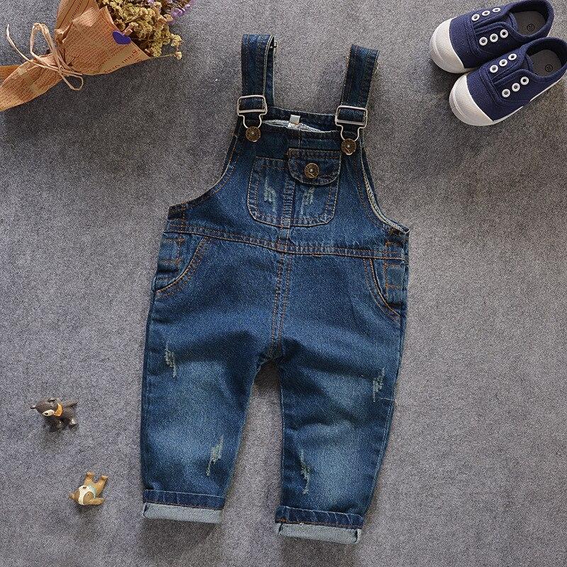 mamelucos bebes Wash Water Soft Denim Overalls Girls Jeans Pants Kids Jeans Overalls Boys/girls Jumpsuit salopette jeans fille