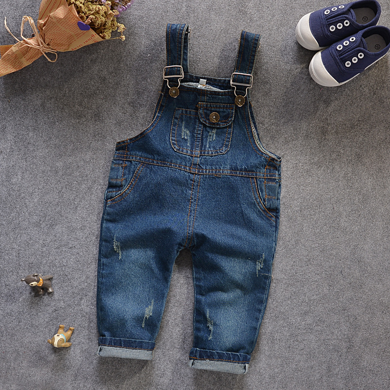 mamelucos bebes Wash Water Soft Denim Overalls Girls Jeans Pants Kids Jeans Overalls Boys/girls Jumpsuit salopette jeans fille