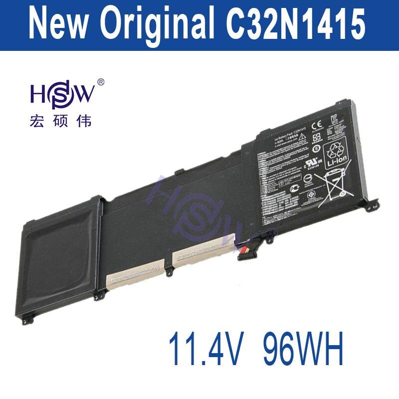 HSW  genius  96Wh 11.4V C32N1415 Li-ion Laptop Battery For ASUS ZenBook Pro N501VW, UX501JW, UX501LW bateria akku