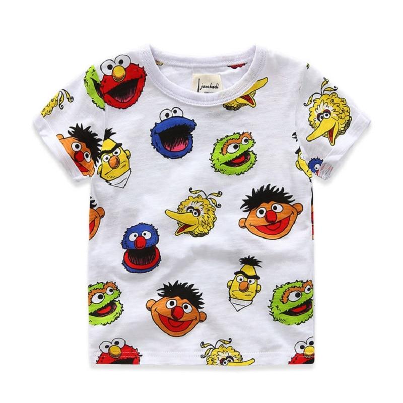 100% baumwolle sommer jungen t-shirts cartoon gedruckt kurzhülse jungen shirts 2-8 jahre kinder t-shirt für jungen marke kinder kleidung