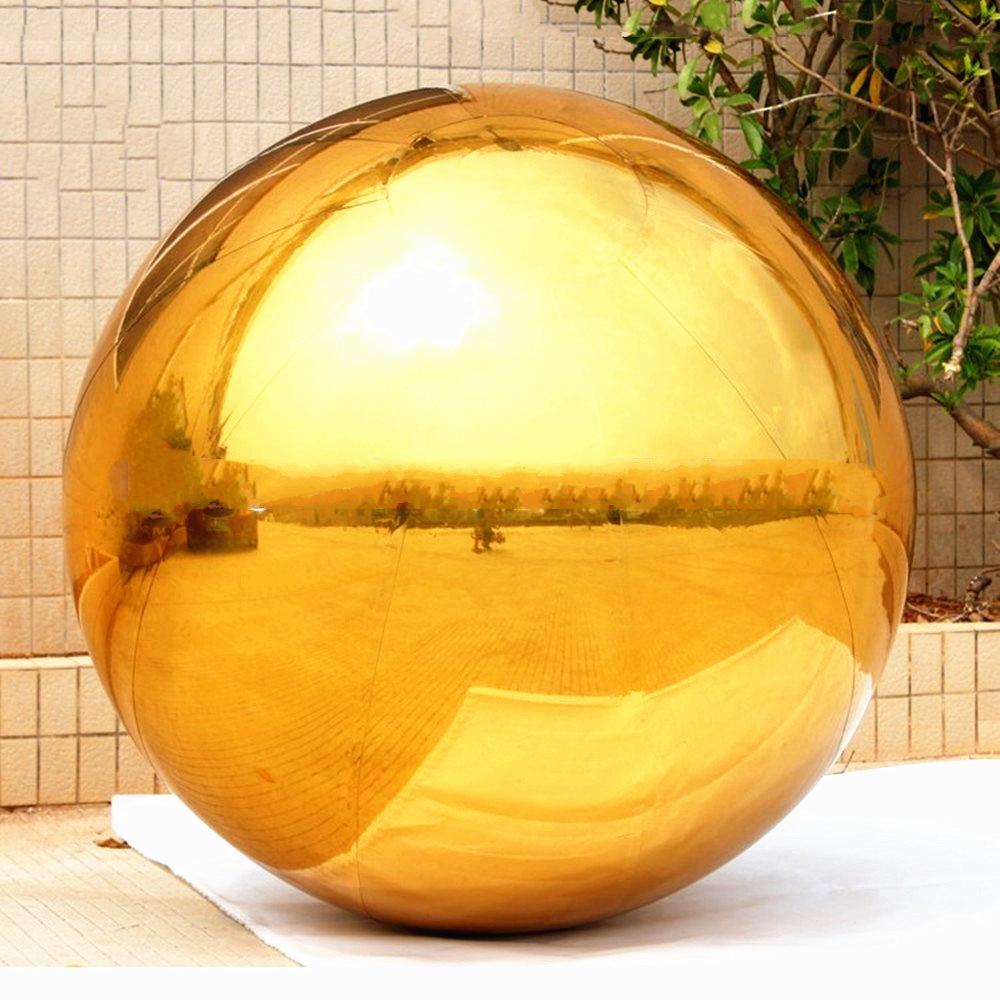 купить 3.5M Diameter Golden Color Inflatable Mirror Ball Christmas Decoration Balloon недорого