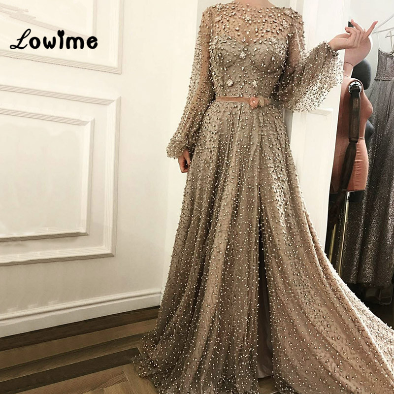 Muslim Formal Evening Dress Kaftan Dubai Arabic Turkish Beaded ...