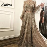 Muslim Formal Evening Dress Kaftan Dubai Arabic Turkish Beaded Formal Evening Prom Party Gown Dress Gowns Dresses Robe De Soiree