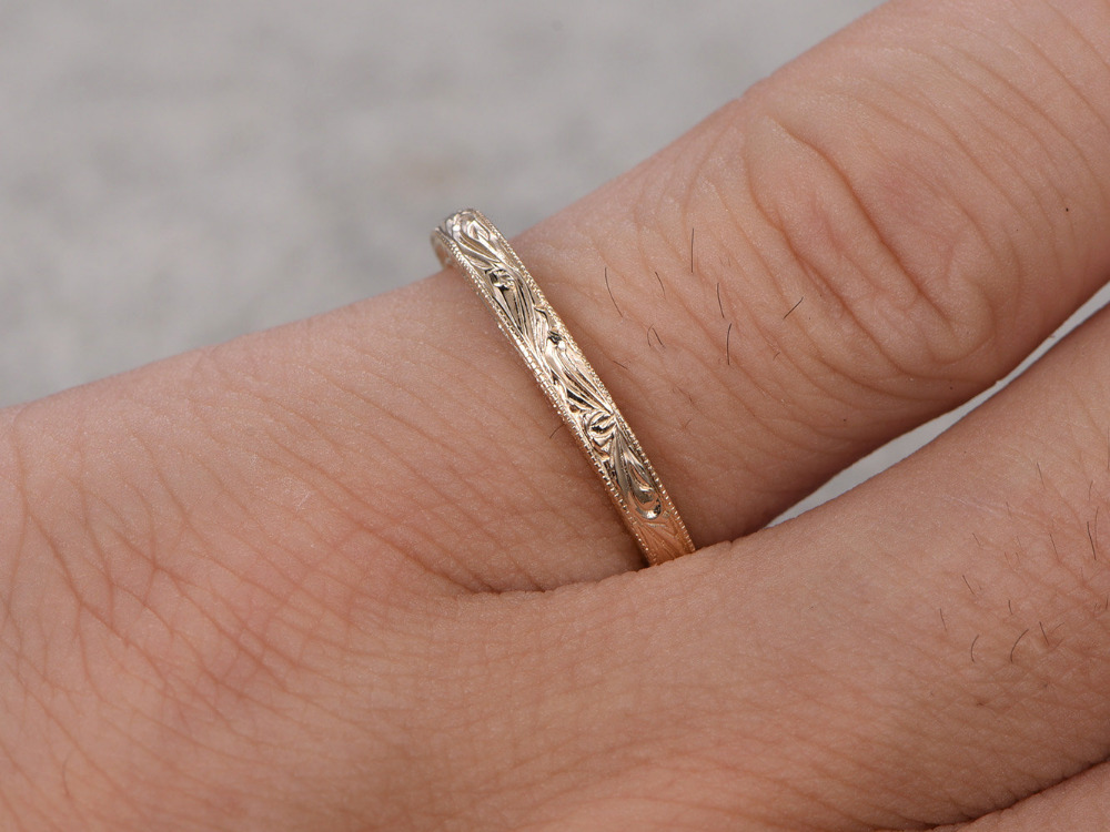 Ring for women solid k yellow gold wedding ring anniversary ring
