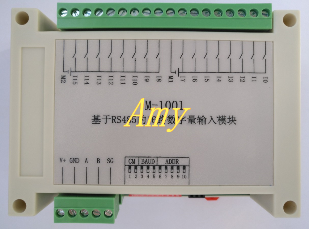 Switch input data acquisition module RS485 communication card collector 16 isolated DI dry contacts