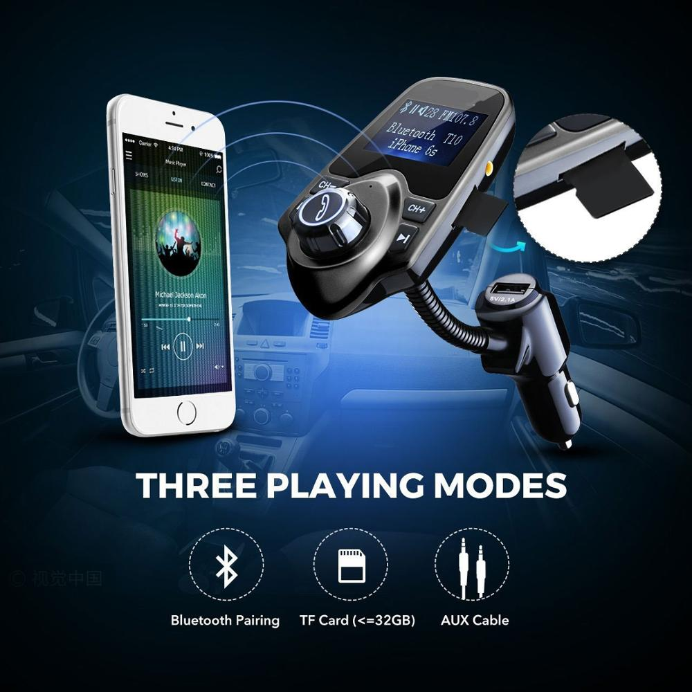 Wireless In Car Bluetooth FM Transmitter Radio Adapter Kit w//2 USB Charger Slots
