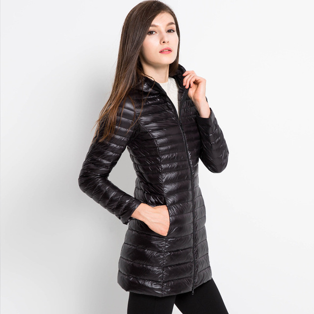 Aliexpress.com : Buy Long Down Jacket Women Winter Hooded Jacket ...