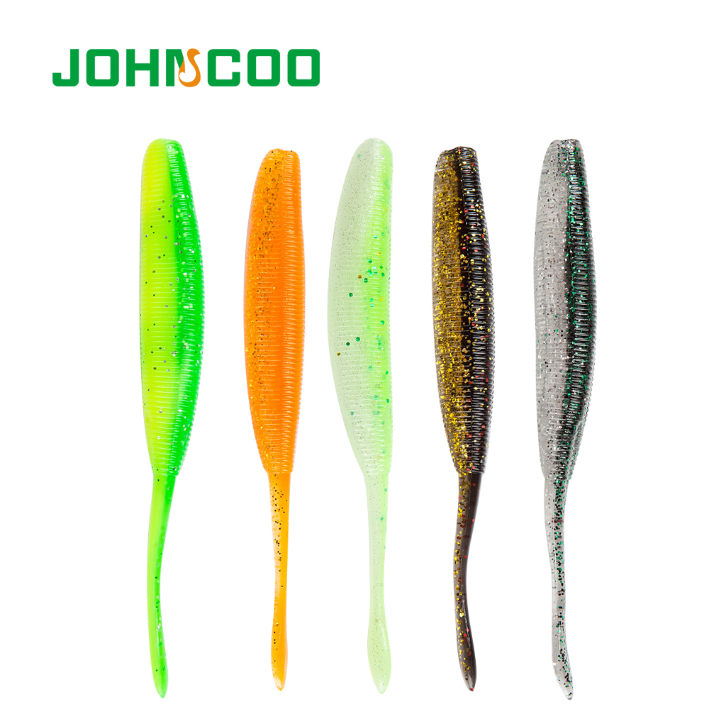 JOHNCOO 6pcs Soft Fishing Lure 115mm 7g Artificial Bait Soft Carp Fishing Lure Wobblers Bait Fishing Tackle