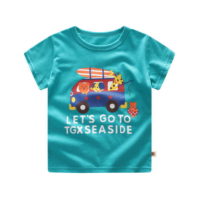 Summer Children T Shirts for Boys Girls T-shirt Kids Cotton Short Sleeve Tops Baby Tees title=