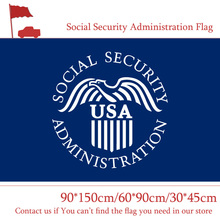 Free shipping 3ft*5ft Hanging Flag Social Security Administration Of America 30*45cm Car 90*150cm 60*90cm