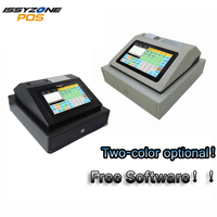 IPCR004 Free Software Touch Screen Automatic Electronic Money Cash Register All in one POS for Restaurant/Drink/milk/tea Shop