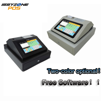 IPCR004 wolnego oprogramowania ekran dotykowy automatyczna elektroniczna kasa pieniądze wszystko w jednym poz dla restauracji/napoje/mleka /herbata sklep