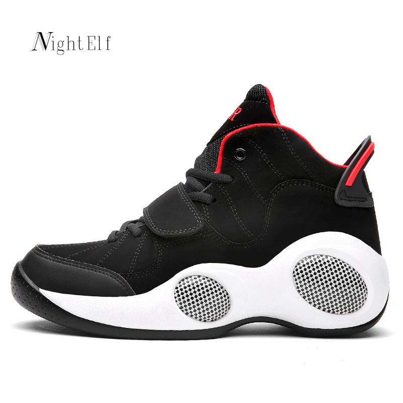 Night Elf men basket shoes high quality sneakers breathable PU leather sport shoes men 2016 Winter running shoes plus size 39~48 outdoor sport women high top running shoes genuine leather running boots sneakers women plus big size