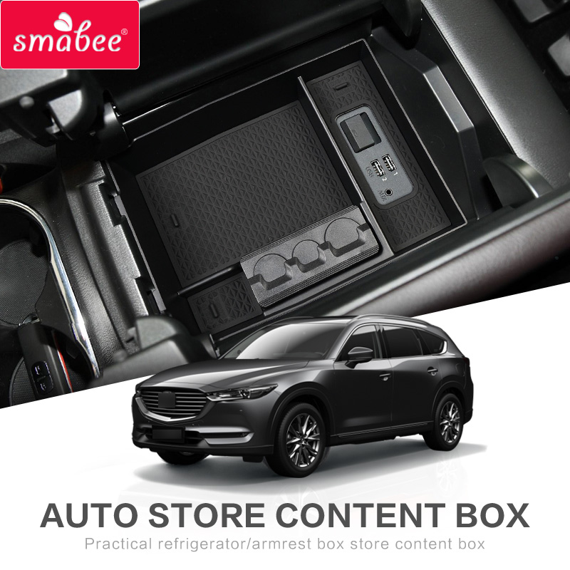 smabee Car central armrest box For <font><b>MAZDA</b></font> <font><b>CX</b></font>-8 <font><b>CX</b></font>-<font><b>9</b></font> 2016 - 2019 CX8 CX9 2017 2018 Interior <font><b>Accessories</b></font> Stowing Tidying image