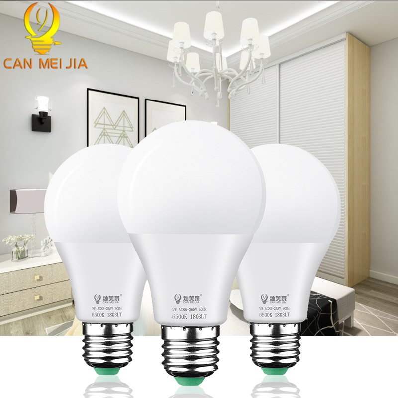LED Bulb E27 3W 5W 7W 9W 12W 15W 18W AC 110V 220V Bombilla Led Lamp Light Smart Lampada Lamps For Home Lighting Cold Warm White
