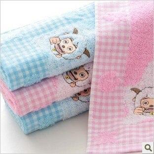 Wholesale 34*76cm Multi-Color 5pcs/lot 100% Cotton Cartoon Soft Face Towel /Face Cloths/Washer Towel/Hand Towel