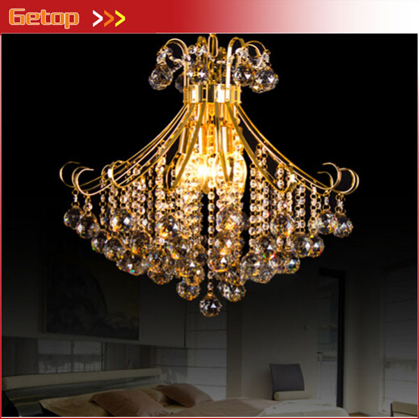 Best Price Luxury Crystal Chandelier Home Lighting Gold Lamp Holder Creative Living Room Restaurant LED Crystal Lamp E14 Base gold color simple brief 5w crystal chandelier led lamp for home aisle meeting room bar cloth shops 5w chandelier 6000k 2800k