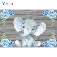 Yeele Elephant Flowers Wooden Boards Wall Scene Baby Children Photography Backgrounds Photographic Backdrops For Photo Studio