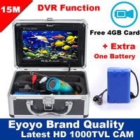 Eyoyo Original 15M 1000TVL HD CAM Professional Fish Finder Underwater Fishing Video Recorder DVR 7 Monitor