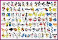 Children's Favor Cartoon Characters Temporary Body Tattoo Stencils Mouse and Duck Designs Tattoo Template Book Hotsale