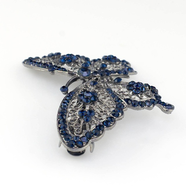 Butterfly Shaped Crystal Hair Clip