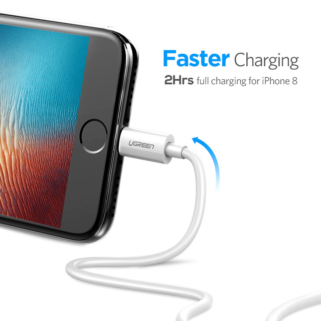 Ugreen MFi Lightning to USB Cable for iPhone X 7 6 5 6s Plus Fast Charging USB Data Cable for iPhone 5s 5C SE Mobile Phone Cable 2